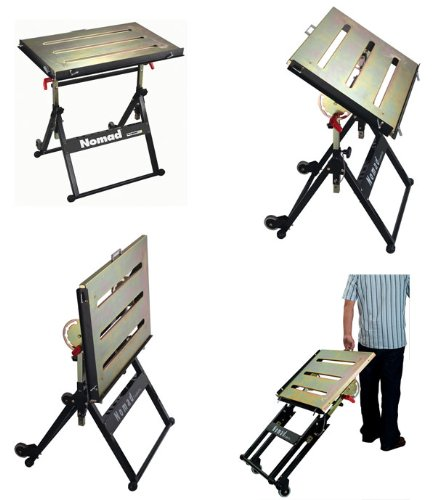 Strong Hand Tools Nomad Welding Table with MagSpring Clamp and Mini Magnet Twin Pack, Model Number TS3020FK