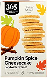 365 by Whole Foods Market, Cookie Sandwich Cremes Pumpkin Pie Cheesecake, 9.7 Ounce