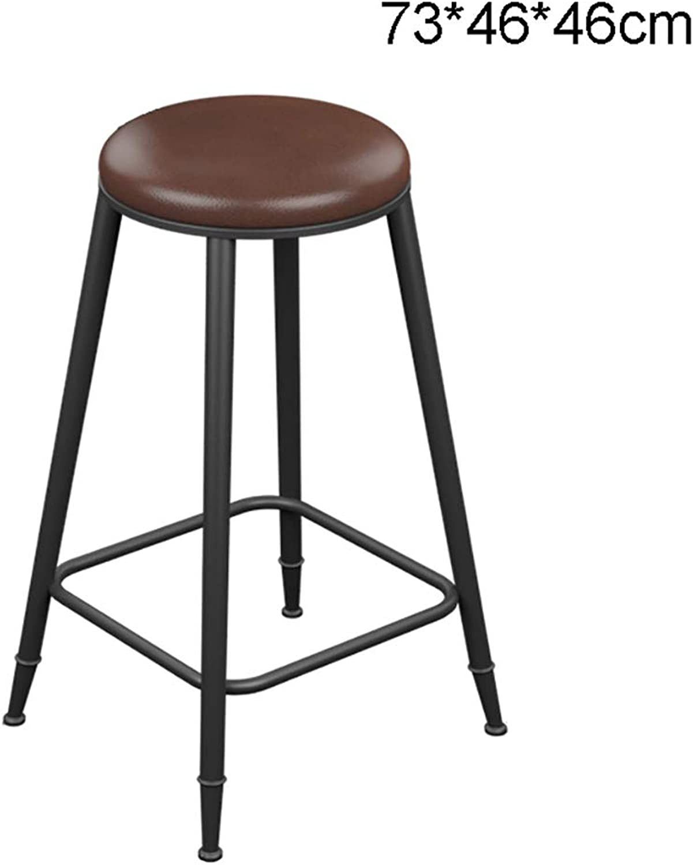 LYXPUZI Barhocker Iron Wood bar Stool bar Stool high Stool high Chair bar Stool bar Chair Front Chair Frühstücksschemel (Size   73  46  46cm)