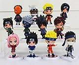 League Of Loveliness Lote 12 Figuras de Naruto Shippuden PVC Personajes Sasuke kawashi Sakura Gaara ...