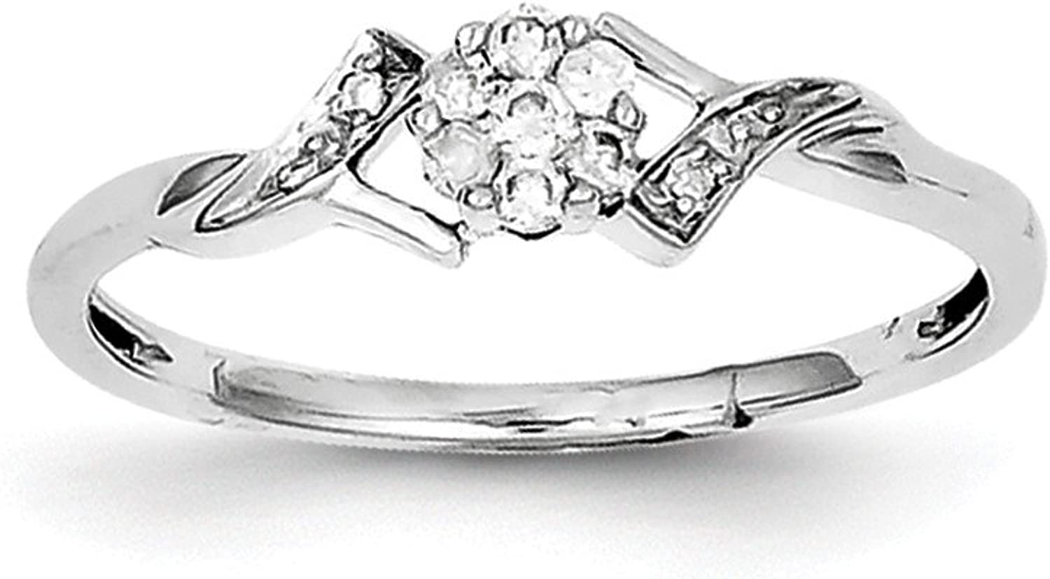 925 Sterling Silver Diamond Ring (0.12ct)