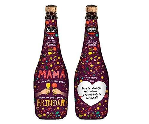 Estrella Galicia Dia de la Madre 2018 - 75cl 1 Botella - EDICIÓN ESPECIAL LIMITADA - PERSONALIZABLE - Espacio para Escribir Dedicatoria