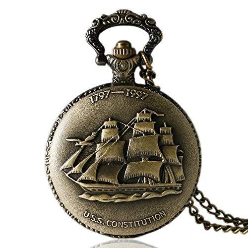 LXZSP Mini Reloj de Bolsillo de Cuarzo pequeño de Bronce, Lona de...