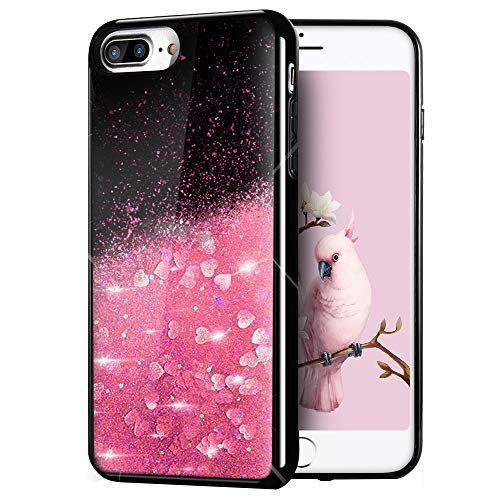 Caler Liquida Glitter Cristal Funda Compatible para iPhone 7 Plus/8 Plus [con...