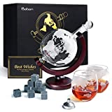 Whiskey Decanter Glasses Gift Set, Baban 1 Whiskey Decanter with Glove and Ship