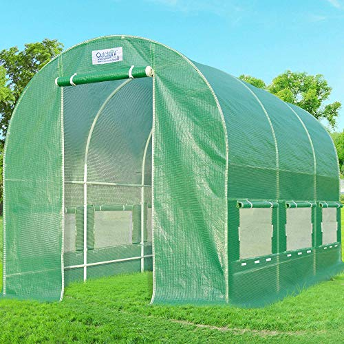 Quictent 12' X 7' X 7' Portable Greenhouse Large Walk-in Green Garden Hot House