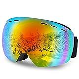 DIAOCARE Gafas de Esquí, OTG Gafas de Snowboard Anti Niebla 100% UV400 Protección Gafas de Ventisca Máscara Gafas Esqui Snowboard para Hombre Muje