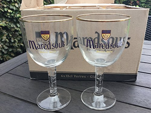 Maredsous Belgium Beer Glasses (Set of 2)