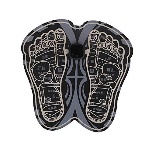 N /A Mini Foot Massager Pad, Smart Foot Massager Mat Folding Portable Electric Massage Pad Machine EMS Pulse Feet Massage Stickers For Alleviateing Feet & Leg Pain-USB Rechargeable