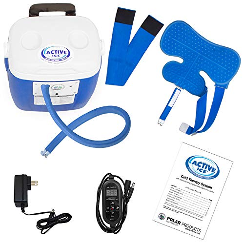 Polar Active Ice 3.0 Cold Therapy Ice Machine System with Programmable Timer, Shoulder Compression Pad, Lightweight 16 Quart Cooler Freeze Kit, Quiet Pump, Strong Cyrotherapy Pain Relief and Treatment