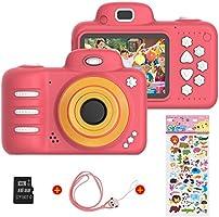 Digitale kindercamera voor meisjes, Vannico oplaadbare HD-videocamera voor kinderen van 3-10 jaar, Mini-selfiecamera...