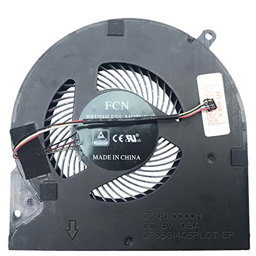(Version 1) Lüfter Kühler Fan Cooler kompatibel für Razer Blade 15, 15 GTX1070, 15 RZ09-02386E91