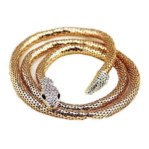 lulongyansf Serpiente de la Vendimia Collar de Damas Accesorios de la joyería Collar de la Ropa Metal de la Manera Adecuada para San Valentín joyería de Oro 1pcs día