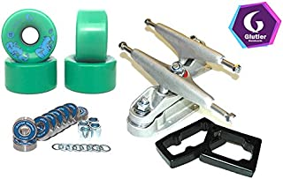 Glutier Set Surfskate Trucks T12 65mm 83a Green...