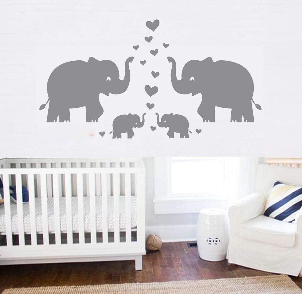 J369 Elephant Design Pattern Cool Wall Stickers Bedroom Girls Boys Kids Room