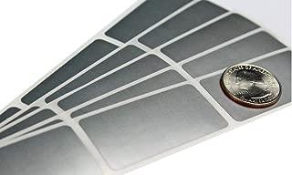 My Scratch Offs 1 x 2 Inch Silver Rectangle Scratch Off Sticker Labels - 100 Pack