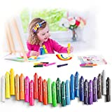 MayMoi Washable Crayons Tempera Paint Sticks for Kids, Teens and Adults, 24 Colors, Non-Toxic, Quick Drying