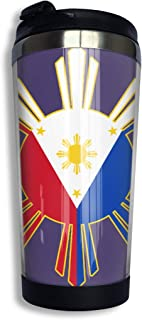 BXGC-FB Filipino Flag Coffee Thermos Cup Stainless Steel Travel Travel Mug Cup Water Bottle for Keep Hot Or Cold