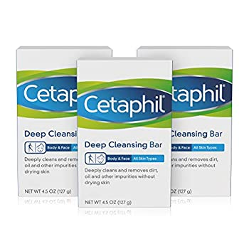 Cetaphil Deep Cleansing Face & Body Bar for All Skin Types 3 Count