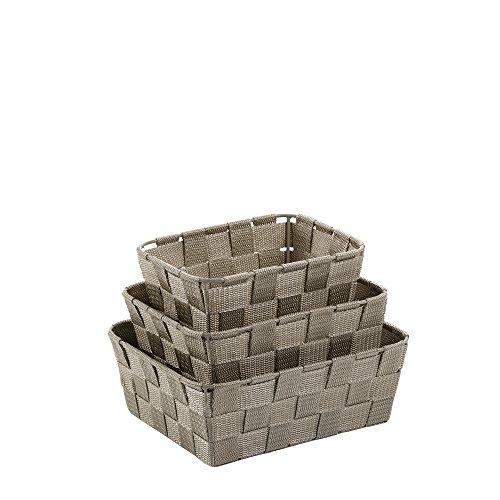 Kela Korb-Set 3-teilig, Alvaro, Unterschiedliche Größen, PP-Faserband, 323028, Taupe