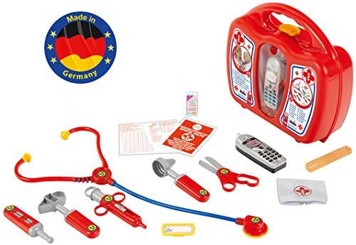 Theo Klein 4350 Speelgoed Dokterskist met Mobiele Telefoon, Rood