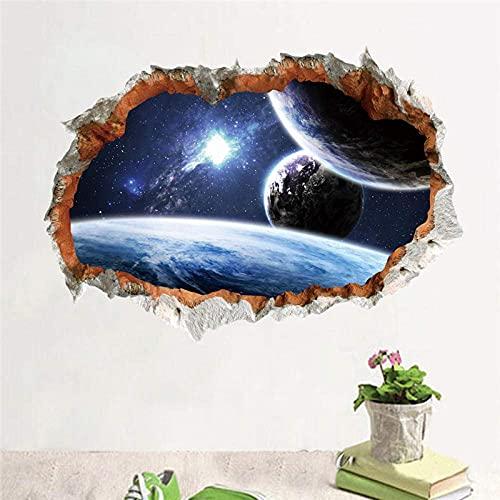 Espacio Exterior Solar Sywall Pegatinas Planetas Tierra Sol Saturno Marte Estrellas Calcomanías De Pared Sala De Estar Dormitorio Arte Mural