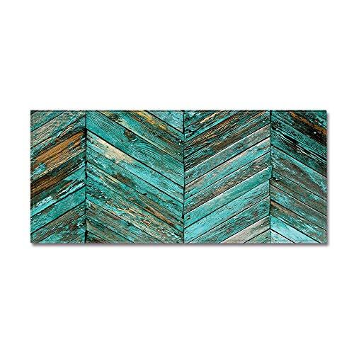 HLXX Alfombrilla de Piso con patrón de Grano de Madera, Alfombrilla de Cocina Antideslizante Moderna y Resistente a Las Arrugas para Sala de Estar, alfombras de Pasillo A2 40x120cm