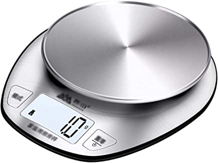 Kitchen Scale - Stainless Steel, High Precision Sensor, LCD Display, Fashion Household High Precision Food Baking Mini Electronic Metering Scale - 19.5X18cm