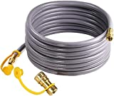 DOZYANT 36 Feet 3/8 inch Natural Gas Hose with Quick Connect for BBQ Gas Gril Low Pressure Appliance -3/8 Female Pipe Thread x 3/8 Male Flare Quick Disconnect - CSA Certified