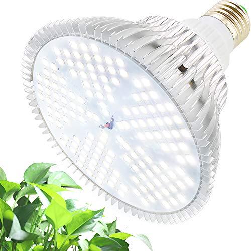 LED Pflanzenlampe 100W Tageslichtweiß Vollspektrum Pflanzenlicht E27 Led Grow Lampe, MILYN 150 LEDs Wachstumslampe für Gewächshaus,Innengärten,GrowBox,Zimmerpflanzen,Hydroponische Pflanzen wachsen