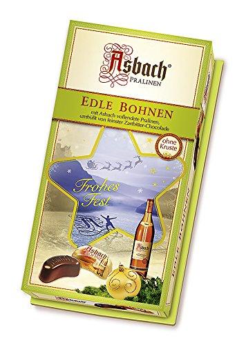 Asbach-Pralinen Bohnen-Packung mit Weihnachts-Aufkleber, 1er Pack (1 x 200 g)