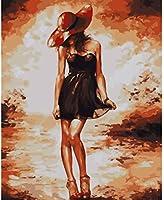 Diyデジタル絵画デジタル絵画少女子供大人初心者手描きアクリル絵画ギフト壁の装飾