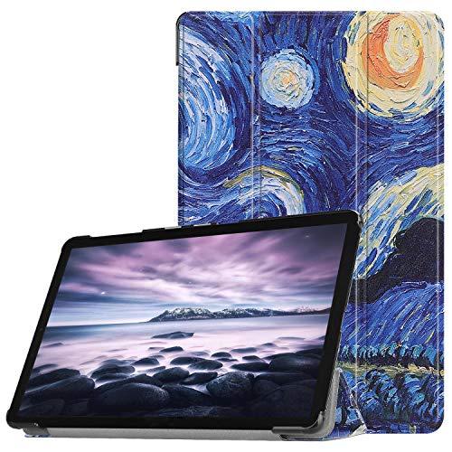 Boleyi Custodia Cover per Xiaomi Mi Pad 4 Pollici, Ultra Lightweight Pelle con Funzione di Stand Flip Copertina Smart Case Cover,Cielo Blu