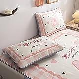 Rongxin Fundas de almohada, un par de almohadas para estudiantes solteros adolescentes románticos de verano fresco y seda de hielo (color: 5, tamaño: 48 x 74 cm)