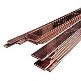 TEN-HIGH Cobre púrpura Barra de Cobre de la Placa del Metal de Gaza, Resistencia a la corrosión, Conducción de alta corriente,3,4,5,6,8,10mm Espesor,1000mm de Longitud