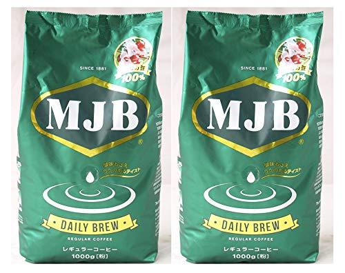591666-2P MJB アラビカ豆 100% デイリー ブルー レギュラーコーヒー 中細挽き 粉 1000g×2袋
