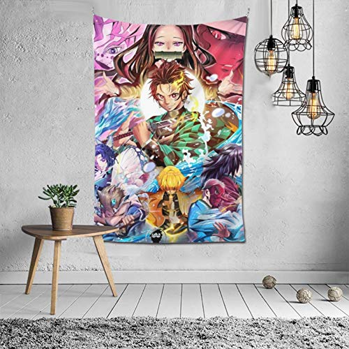 MikeyMillar Tapestry Large Wall Hanging Demons Slayer Fashion Tapestry Multipurpose Tapestries Wall Art Home Decorations for Living Room Bedroom Dorm Decor 60X40inch
