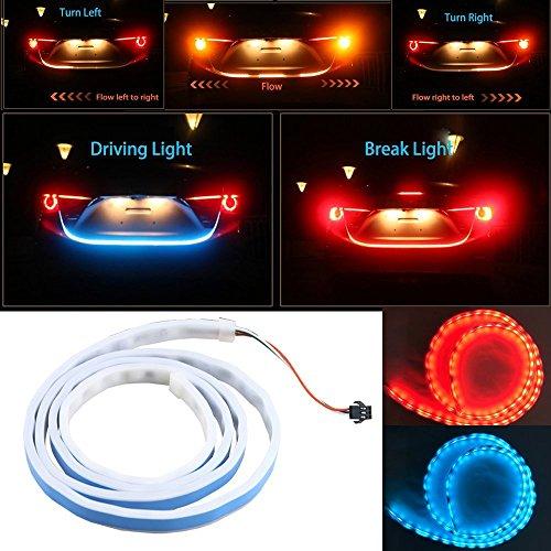 Tira de luz LED para coche de Lyauta, de 120 cm, Iluminación de ...