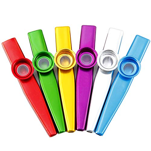 Comius 6 Stück 6 Farben Kazoo Set, ein guter Begleiter für Gitarre, Ukulele, Violine, Klaviertastatur