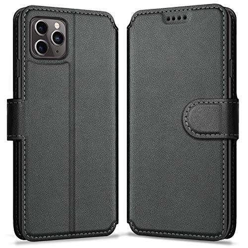 ykooe Cover per iPhone 11 PRO, Custodia iPhone 11 PRO Pelle, Magnetica Protettiva Flip Libro Case per Apple iPhone 11 PRO, Nero