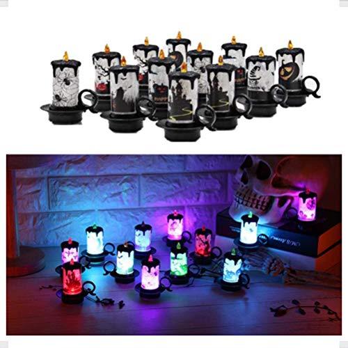 Hihey Led-kaarslicht, 12 stuks, oplaadbare kaarsen, op batterijen, vlamloze kaarsen, led-kerstkaarsen, kaarslicht voor buiten, kerstdecoratie