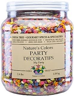 India Tree Nature's Colors My Party Decoratifs Jar, 2.4 Pound