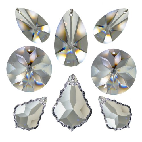 AMBROS/® Kristall Crystal Set 7/Pieces Lace 38/to 63/Mm 30/% PBO Feng Shui Rainbow Crystal Suncatcher