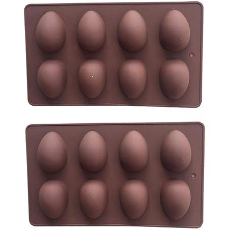 ABOOFAN 2 Piezas de Huevo de Pascua Molde para Pasteles de Plástico Molde para Pasteles Molde para Galletas Chocolate Molde para Cubitos de Hielo Bandeja de Jabón Herramientas para