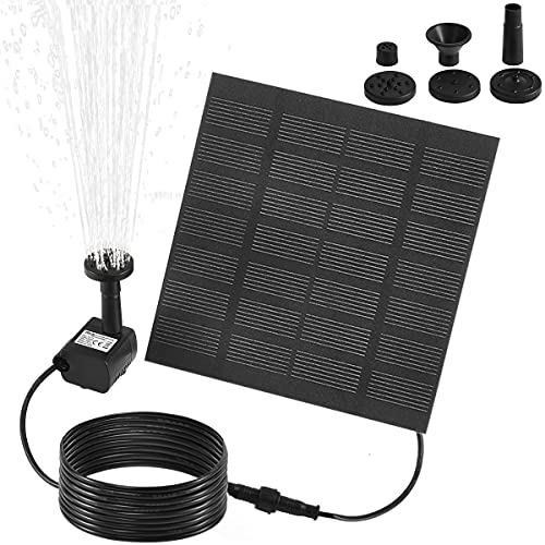 XTIMES Solar Fountain Pump Solar Water Pump With Panel Submersible Solar...