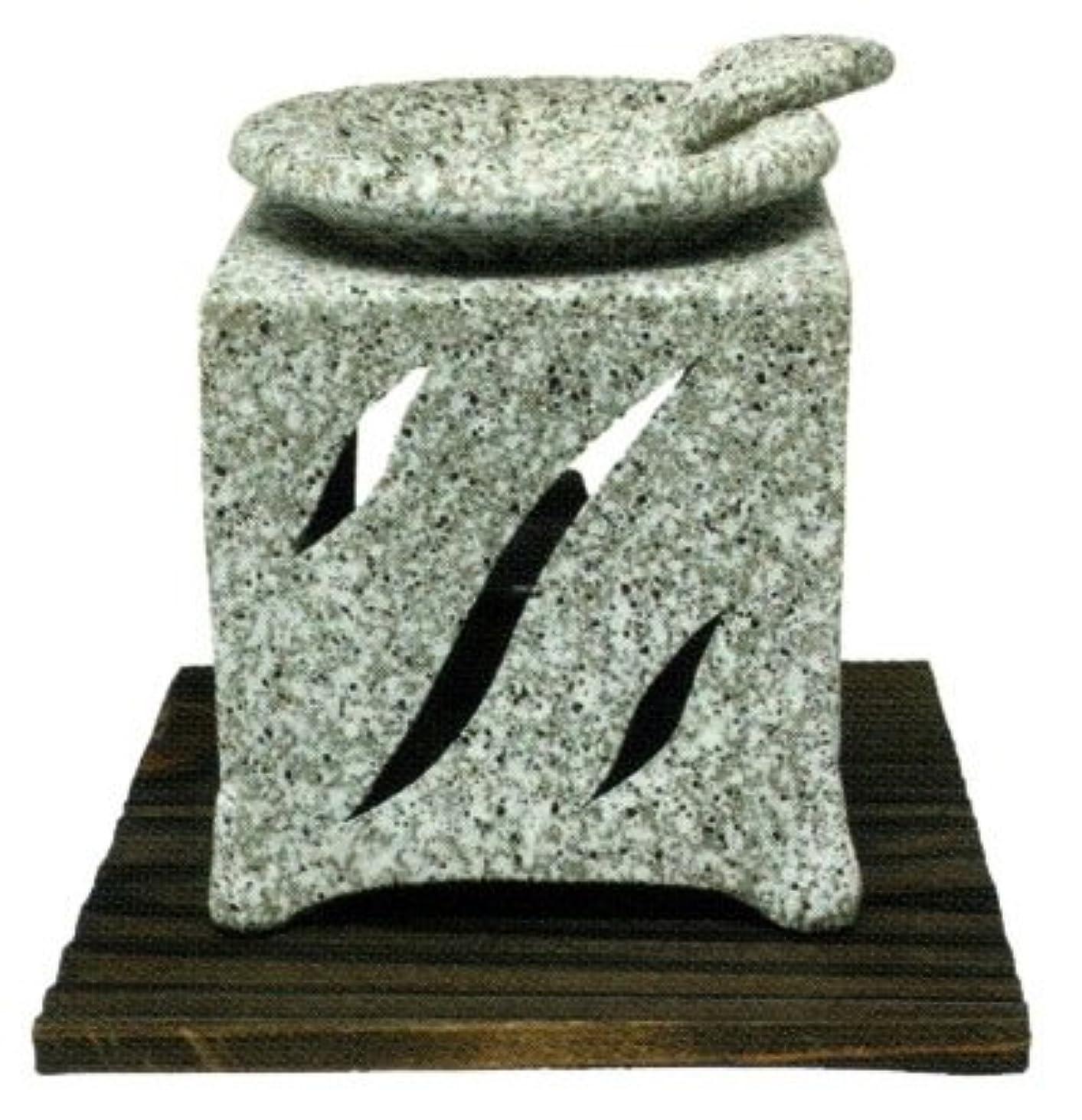 敬な観察する知性常滑焼?山房窯 カ40-06 茶香炉 杉板付 約10.5×10.5×12.5cm