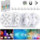 Eyscoco 4 Stück Unterwasser Licht LED...