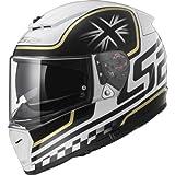 LS2FF390breaker–Casco integrale motocicletta, colore bianco/nero