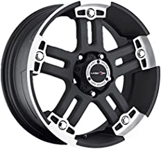 Vision 394 Warlord Matte Black Wheel with Machined Face (22x9.5