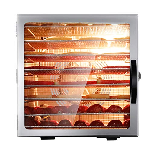 Buy Discount Lxn Commercial Food Dehydrator Machine | Easy Setup, Adjustable Timer and Temperature Control | Herb, Meat, Beef, Fruit and To Dry Vegetables | Over Heat Protection | 8 Stainless Steel Trays